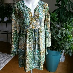 Anthropologie Floreat silk dress size 6